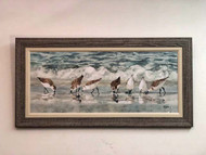 Sandpipers Large Painted Artwork 41 x 21""