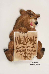 Bear Sign Looking Forward to Having You! - CJ021
