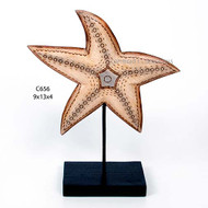 Starfish Carved Wood Table Top CW656