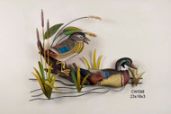 Wood Duck Pair - Wall Sculpture