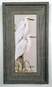 "White Herons Wall Painting 22"" x 12.5"""
