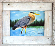 Wading Blue Heron - Lobster Trap Art