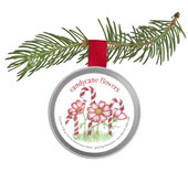 Kids Ornament Candycane Flowers
