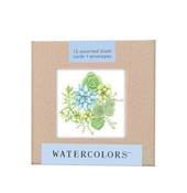 "Watecolors Note Card Box Set (3x3"")"