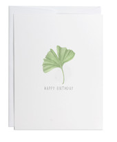 Happy Birthday Ginkgo Greeting Card
