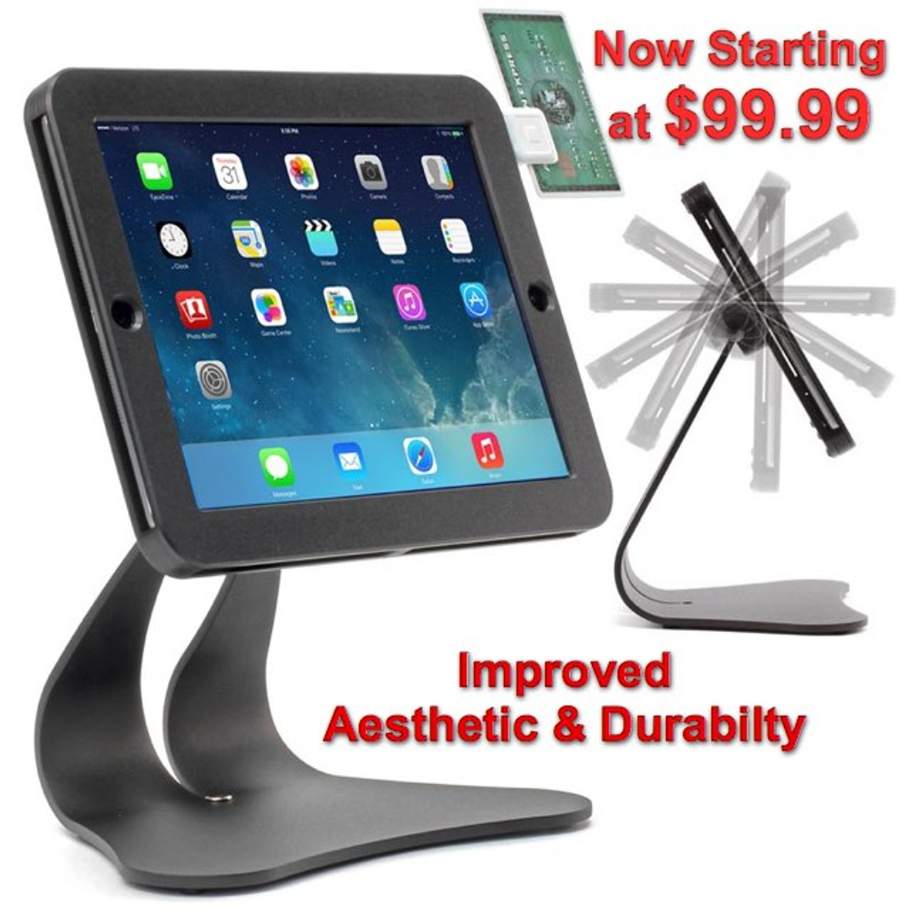 iPad Security Anti-Theft POS Stand & Mount New Price