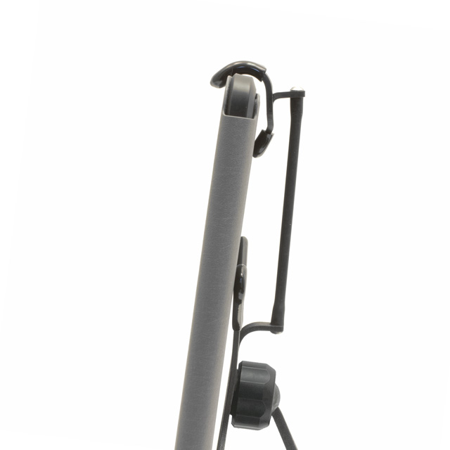 Grapple S4 shown with long strap on iPad with a case