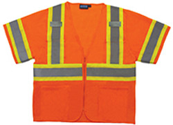 ERB Class 3 Safety Vest  Two Tone W/Mic Tabs