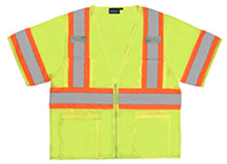 Class 3 Safety Vest  Two Tone W/Mic Tabs 3XL