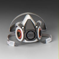 3M 6300 RESPIRATOR FACE PIECE 1/2 MASK