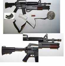 Mini 1/6th Nam Colt MX-177 Assault Rifle w/shotgun w/shell