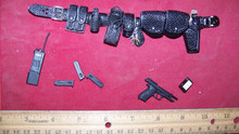 Miniature 1/6th Scale Police Belt, Pistol, Holster & More #1