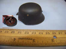 Miniature 1/6th Scale WWII German Metal Army Helmet #3