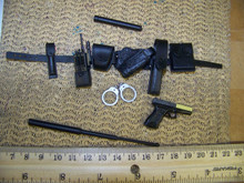 Miniature 1/6th Scale Deluxe Police Belt & Pistol #1