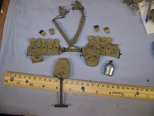Miniature 1/6th Scale US WW2 Cloth M1936 Cartridge Belt & More #2
