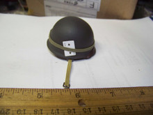 Miniature 1/6th Scale US WWII M1 Textured Helmet w/liner & Card