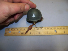 Miniature 1/6th Scale US WWII M1 Paratrooper Helmet w/Club decal #2