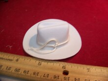1/6th Scale White Cowboy Western Hat
