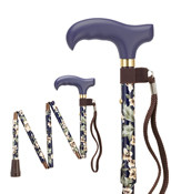 FOLDING MINI Adjustable - Vibrant Dogwood  Floral Cane+ FREE WRIST STRAP H9052721