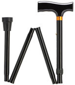 Fritz Style Handle Black Adjustable Folding Walking Cane - HS-9052308