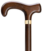 Hercules XL Super Strong Derby Walnut Finish  Walking Cane H9769207
