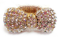 Large Rhinestone Bow Ring