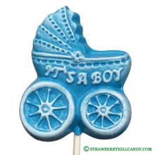 """Baby Carriage """"It's a Boy"""" Lollipop"""