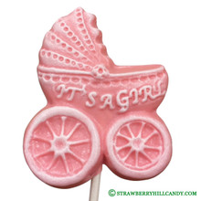 "Baby Carriage ""It's a Girl"" Lollipop"