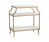 Milla Side Table with Wood Shelves