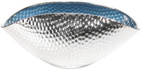 Glass & Silver Small Curved Bowl