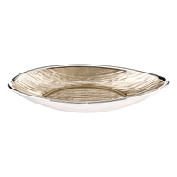 Glass & Silver Long Oval Bowl