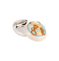 Blue Bear Porcelain & Silver Trinket Box
