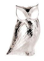 Owl Resin & Silver Figurine