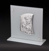 Silver Holy Family Plaque