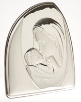 Mother & Child Authentic 925 Silver Plaque