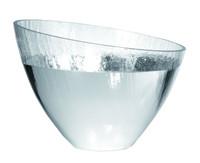 Glass & Silver Large Craquele Bowl