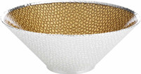 Glass & Silver Milano Bowl (Medium)