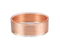 Copper STRIPES GLASS BOWL