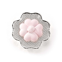 Silver & Glass Clover Plate w/ Chalk Shapes (Baby Colors)