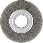 """6"""" x .008"""" x 2"""" Crimped Wire Wheel Brush (Steel)   Lessmann 344142"""