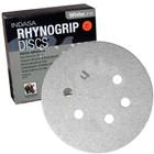 "6"" 6 Hole Rhynogrip Hook & Loop Discs (Box of 50) | 36 Grit AO | Indasa 62-36"