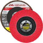 "4.5"" x 7/8"" Ceramic Flap Disc Type 27 Flat | 60 Grit T27 | LVA CFFAS45S060CP"