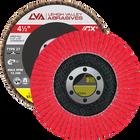 "4.5"" x 7/8"" Ceramic Flap Disc Type 27 Flat | 80 Grit T27 | LVA CFFAS45S080CP"