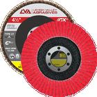 "4.5"" x 7/8"" Ceramic Flap Disc Type 27 Flat | 120 Grit T27 | LVA CFFAS45S120CP"