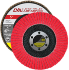 "5"" x 7/8"" Ceramic Flap Disc Type 27 Flat | 60 Grit T27 | LVA CFFAS50S060CP"