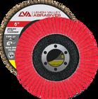 "6"" x 7/8"" Ceramic Flap Disc Type 27 Flat | 80 Grit T27 | LVA CFFAS60S080CP"