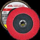 "7"" x 7/8"" Ceramic Flap Disc Type 27 Flat   40 Grit T27   LVA CFFAS70S040CP"