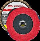 "7"" x 7/8"" Ceramic Flap Disc Type 27 Flat   80 Grit T27   LVA CFFAS70S080CP"