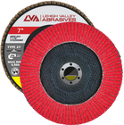 "7"" x 7/8"" Ceramic Flap Disc Type 27 Flat | 120 Grit T27 | LVA CFFAS70S120CP"