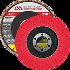 "4.5"" x 7/8"" Ceramic High Density Flap Disc Type 29 Conical | 120 Grit T29 | LVA CFCAS45J120CP"